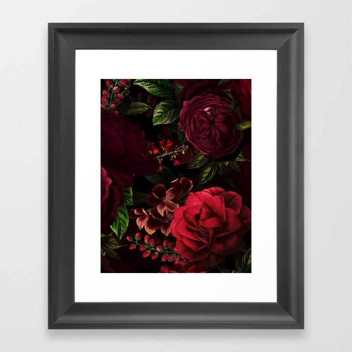 Vintage & Shabby Chic - Vintage & Shabby Chic - Mystical Night Roses Gerahmter Kunstdruck
