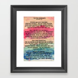 The Four Agreements 11 Framed Art Print