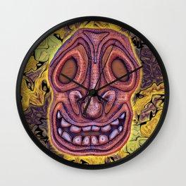 Sad Bee Hive Tiki Wall Clock