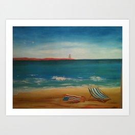 Beach Daze Art Print