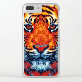 Tiger - Colorful Animals Clear iPhone Case