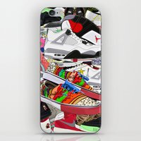 sneakers iPhone & iPod Skins featuring SNEAKERS by OLKA OSADZIŃSKA WWW.ALEOSA.COM