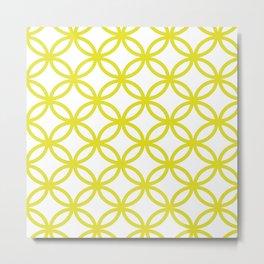 Interlocking Yellow Metal Print