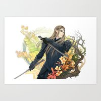 thranduil Art Prints featuring Thranduil  by kagalin