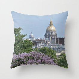 Domes de Paris Throw Pillow