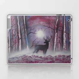 Deer In A Purple Forest Laptop & iPad Skin