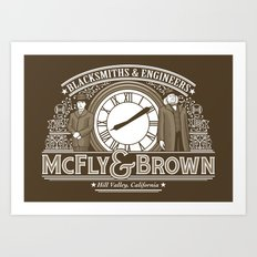 McFly & Brown Blacksmiths Art Print