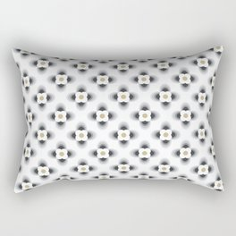 Pattern flowers color grey gradient Rectangular Pillow