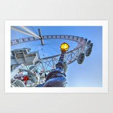 The London Eye and Street Lamp Art Print