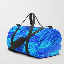 Electric Ocean Sunset by Chris Sparks Duffle Bag