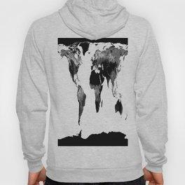 World Map  Black & White Hoody