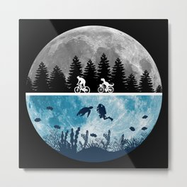Close Encounters of the Moon Metal Print