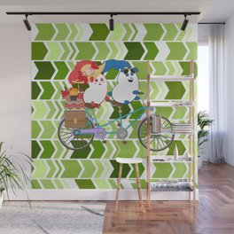 Ernest and Coraline | Tandem biking Wall Mural