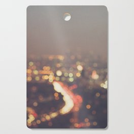 Los Angeles at night photo. Abstract Mulholland Cutting Board