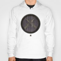 skyrim Hoodies featuring Shield's of Skyrim - Riften  by VineDesign