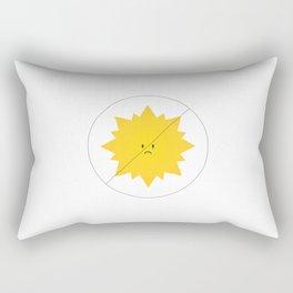 Ban the Rays Rectangular Pillow
