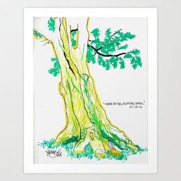 Tree: Delaware Park, Buffalo NY Art Print