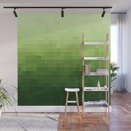 Gradient Pixel Green Wall Mural