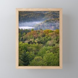 Spring morning fog in the Great Smoky Mountains Framed Mini Art Print