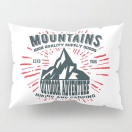 Mountains stamp print design Pillow Sham