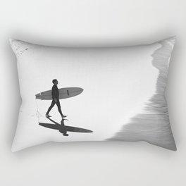 Surfer at Manhattan Beach Rectangular Pillow