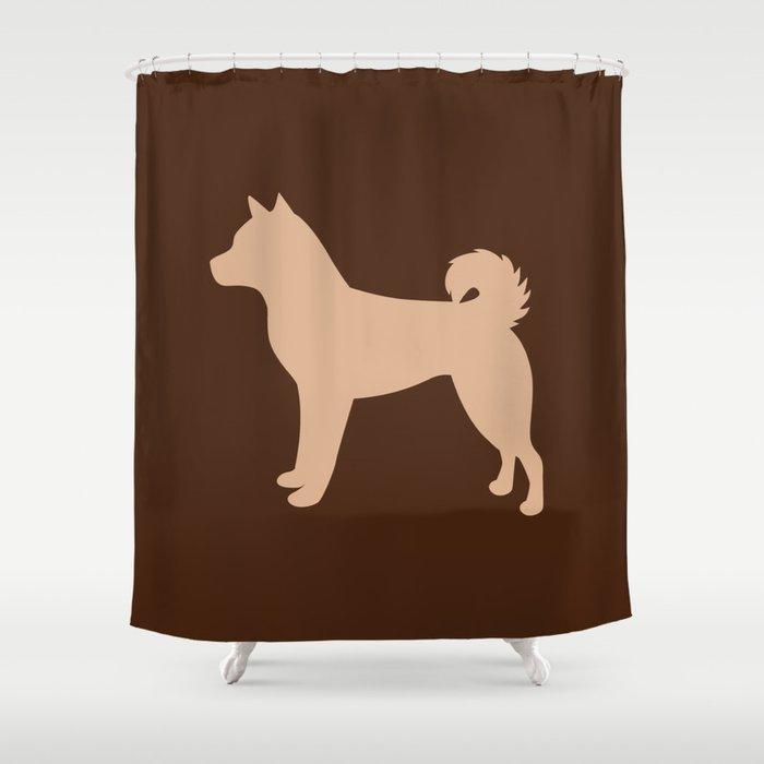 Shiba Inu Tan Chocolate Shower Curtain