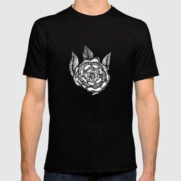 rose flowers pattern T-shirt