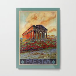 Paestum ancient Greek temple Metal Print
