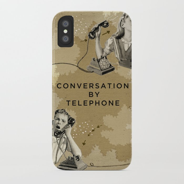 Conversation by Telephone iPhone Case