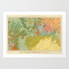 Vintage Southwest Map Art Print