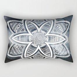 wholeness white mandala on sky Rectangular Pillow