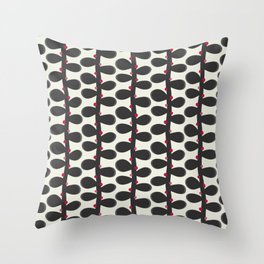 Like a Leaf [red spots] Throw Pillow