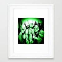 ninja turtles Framed Art Prints featuring  Ninja Turtles by shannon's art space