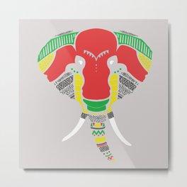 Colourful Elephant Metal Print