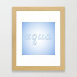 Water drops with background Framed Art Print