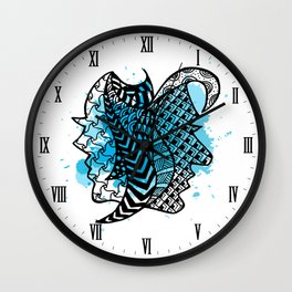 Zodiac Zentangle - Gemini Wall Clock