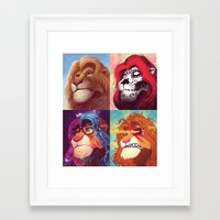 simba Framed Art Prints featuring Simba by Martronix