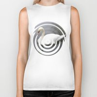 swan queen Biker Tanks featuring Swan by IvanaW