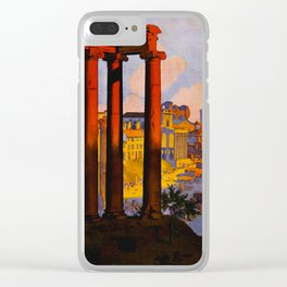 Vintage Rome Italy Travel Clear iPhone Case