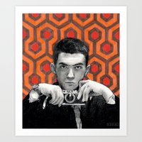 stanley kubrick Art Prints featuring Kubrick by Bethany Duvall