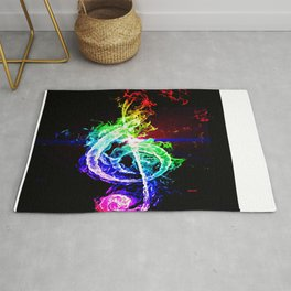 The Great Treble Clef Rug