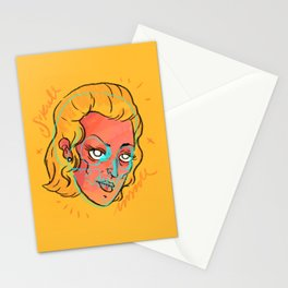 Yellow mind Stationery Cards