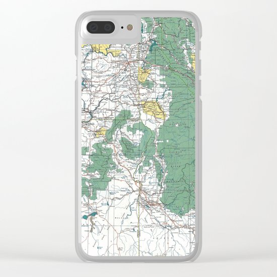 Pacific Northwest Map Clear iPhone Case