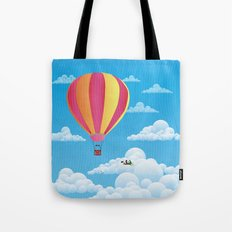 Picnic in a Balloon on a Cloud Tote Bag