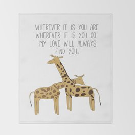 My Love Will Always Find You Throw Blanket