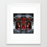 thrones Framed Art Prints featuring THRONES by DIVIDUS