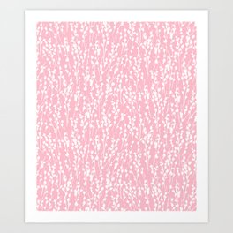 Pussywillow Silhouettes — Millennial Pink Art Print