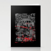techno Stationery Cards featuring Techno Cop by Slippytee Clothing