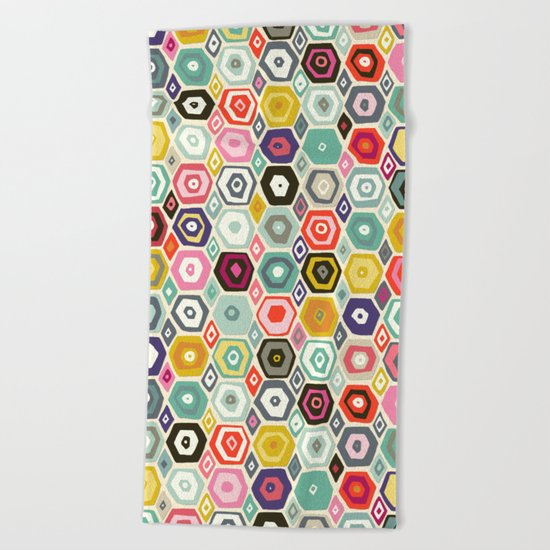 hex summer Beach Towel
