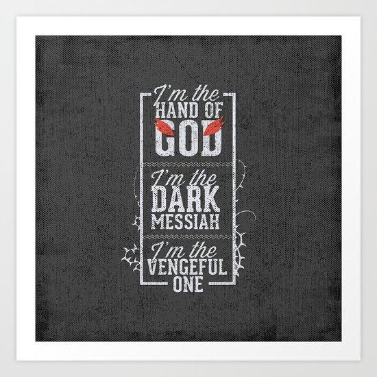 Iam the hand of God - Typography Art Print